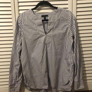 J Crew striped 100% cotton blouse.